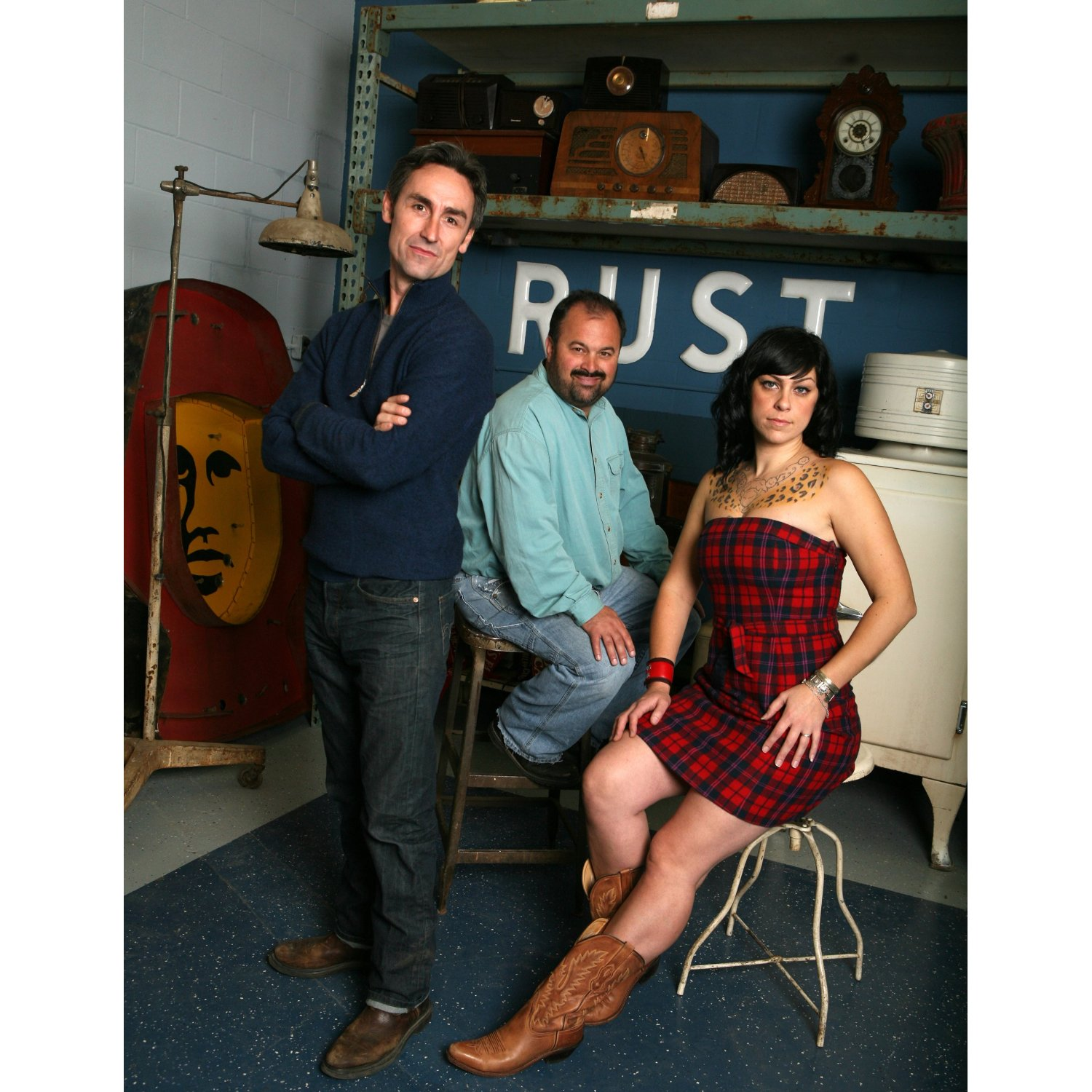 mike, frank and danielle of american pickers